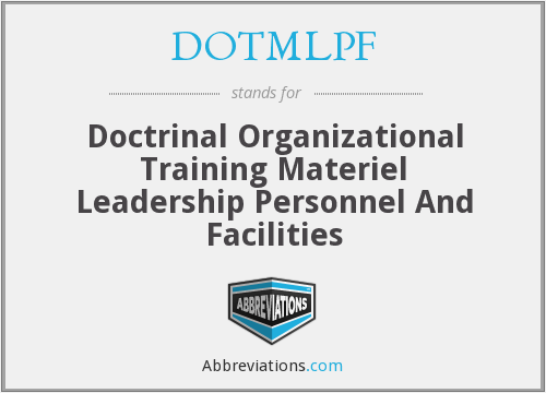 What does DOTMLPF stand for?