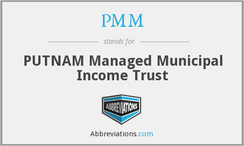 What does PMM stand for?