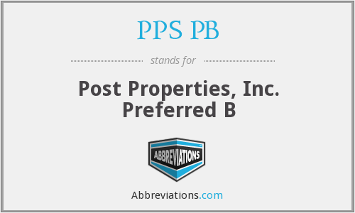 What does PPS PB stand for?
