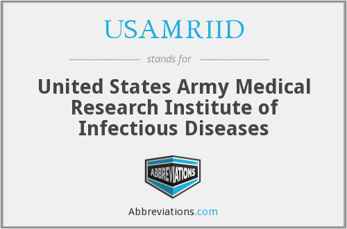 What does USAMRIID stand for?