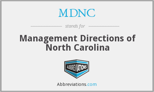 What does MDNC stand for?