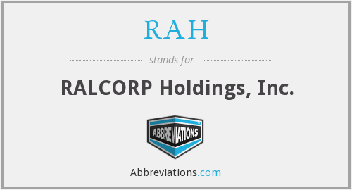 What does RAH stand for?