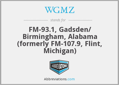 What does WGMZ stand for?