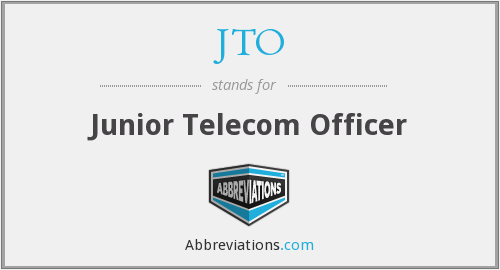 What does JTO stand for?