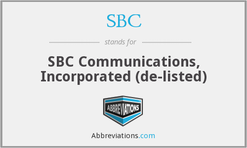 What does SBC stand for?
