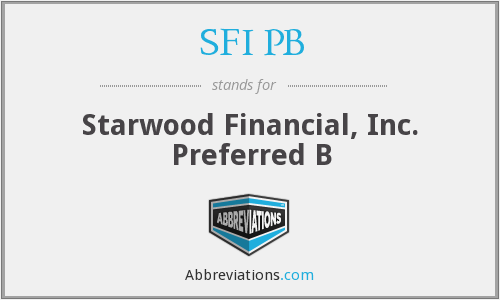 What does SFI PB stand for?