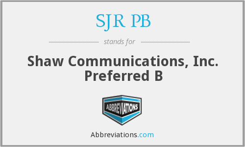 What does SJR PB stand for?
