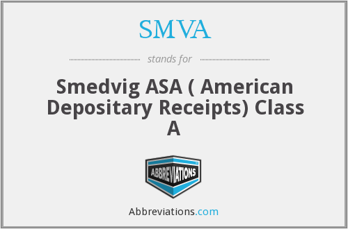 What does SMVA stand for?