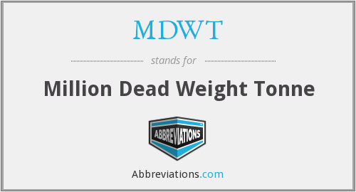 What does MDWT stand for?