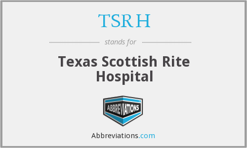 What does TSRH stand for?