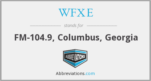 What does WFXE stand for?