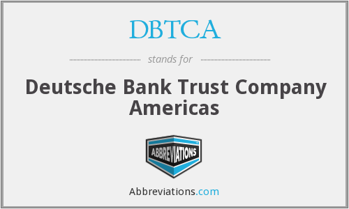 What does DBTCA stand for?