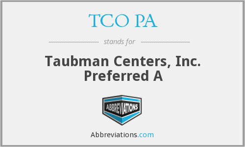 What does TCO PA stand for?