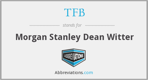 What does TFB stand for?