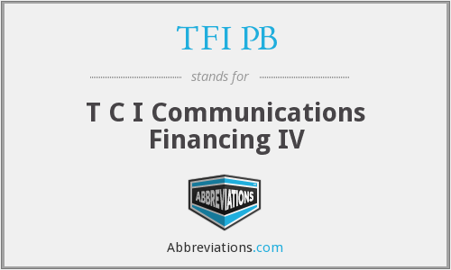 What does TFI PB stand for?