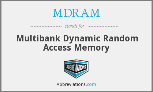 What does MDRAM stand for?