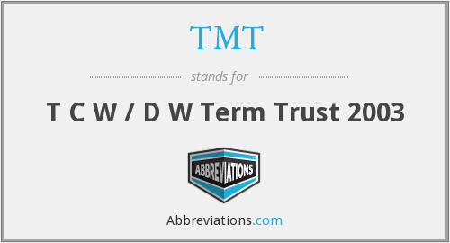 What does TMT stand for?