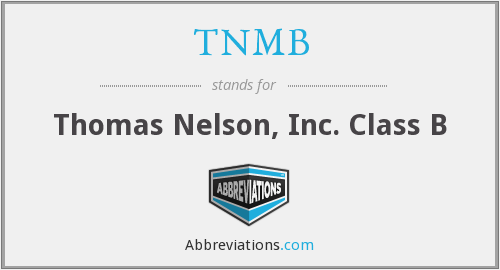 What does TNMB stand for?
