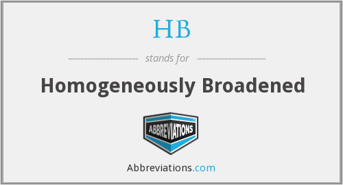 What does homogeneously stand for?