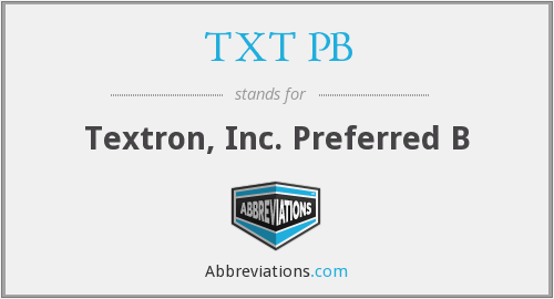 What does TXT PB stand for?