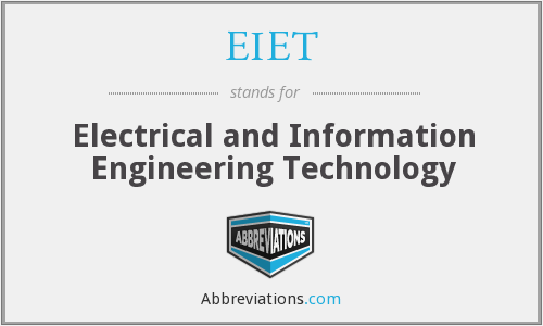 What does EIET stand for?