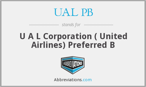 What does UAL PB stand for?