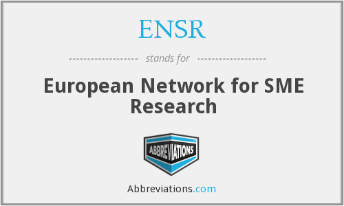 What does ENSR stand for?
