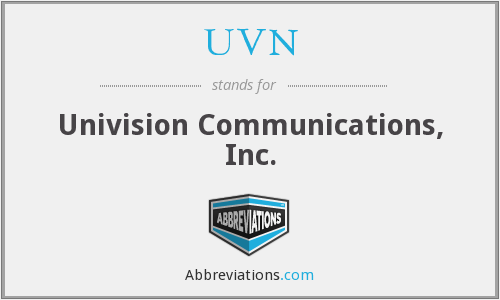 What does UVN stand for?