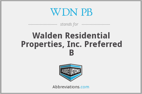 What does WDN PB stand for?
