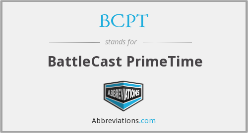 What does BCPT stand for?