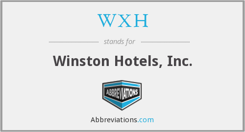 What does WXH stand for?