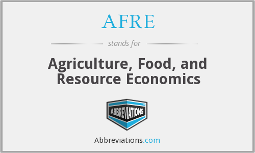 What does AFRE stand for?