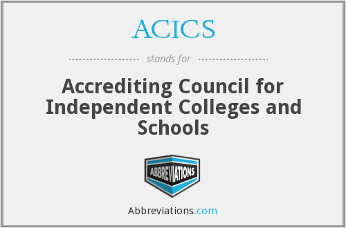 What does ACICS stand for?