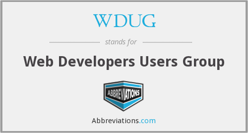 What does WDUG stand for?