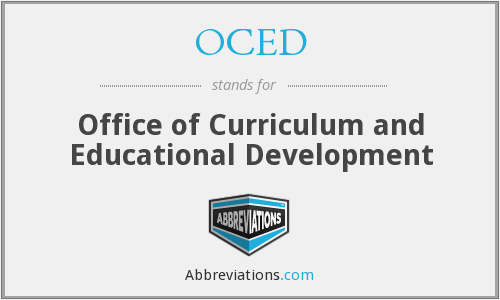 What does OCED stand for?