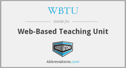 What does WBTU stand for?