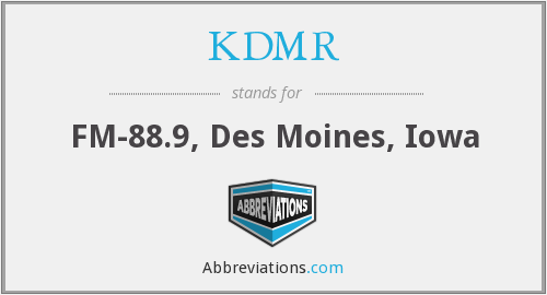 What does KDMR stand for?