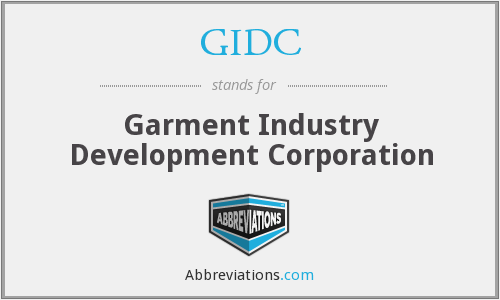 What does GIDC stand for?