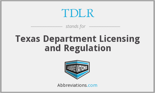 What does TDLR stand for?
