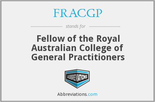 What does FRACGP stand for?