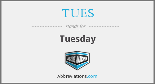 What does TUES stand for?