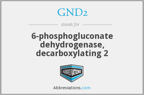 What does GND2 stand for?