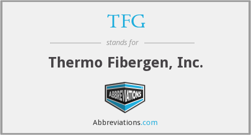 What does TFG stand for?