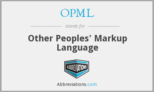 What does OPML stand for?