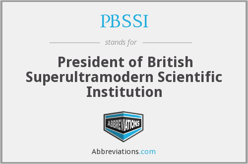 What does PBSSI stand for?