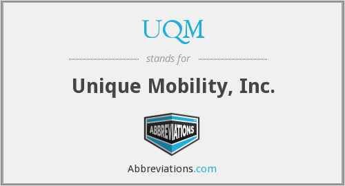 What does UQM stand for?