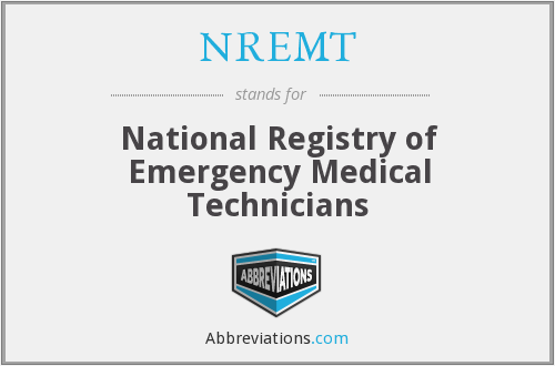 What does NREMT stand for?