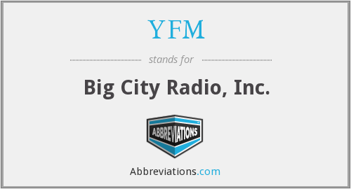 What does YFM stand for?