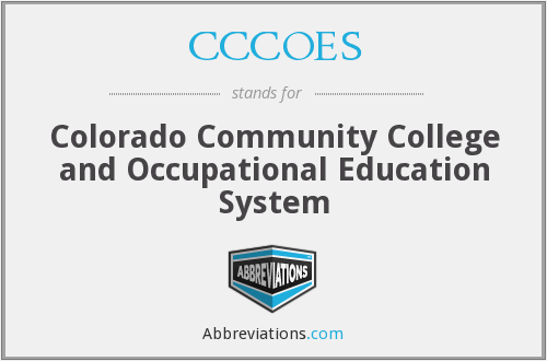What does CCCOES stand for?
