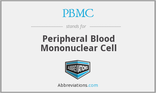 What does PBMC stand for?